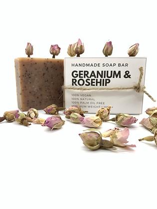 Geranium & Rosehip Handmade Soap Bar
