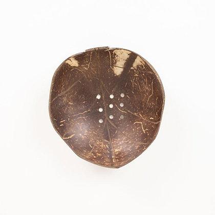 Leaf Shaped Coconut Husk Soap Dish by Huski Home