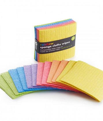 Mini Rainbow Sponge Cloths Wipes