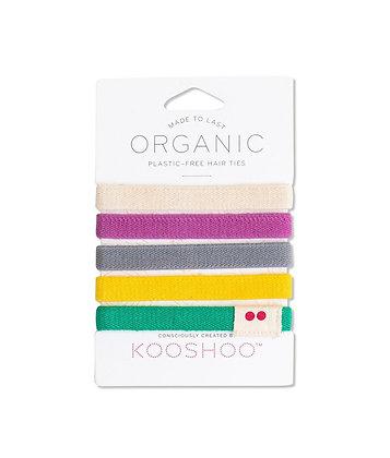 Kooshoo Organic Hair Ties - Colourful