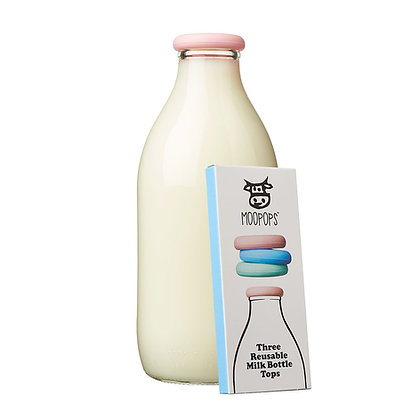 Moopops Pastel Milk Bottle Tops