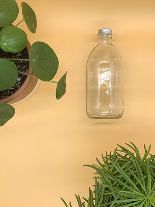 500ml Clear Glass Bottle with Aluminium Lid