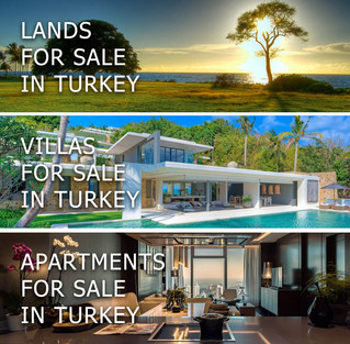Lands, villas, apartments and commercials for sale in Turkey!