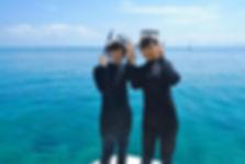 透明度抜群の海でシュノーケル