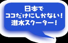 日本にここだけしかない潜水スクーター