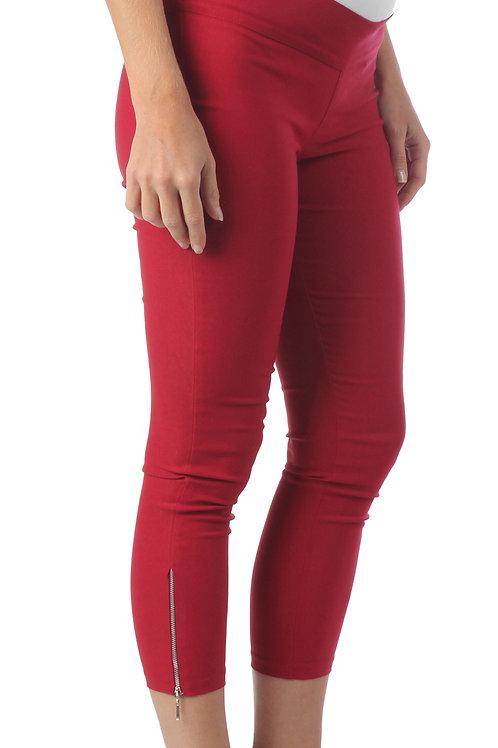 Pantalon 7/8 Cierre Rojo