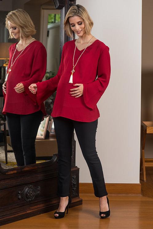 Blusa Elegant - Rojo Vino