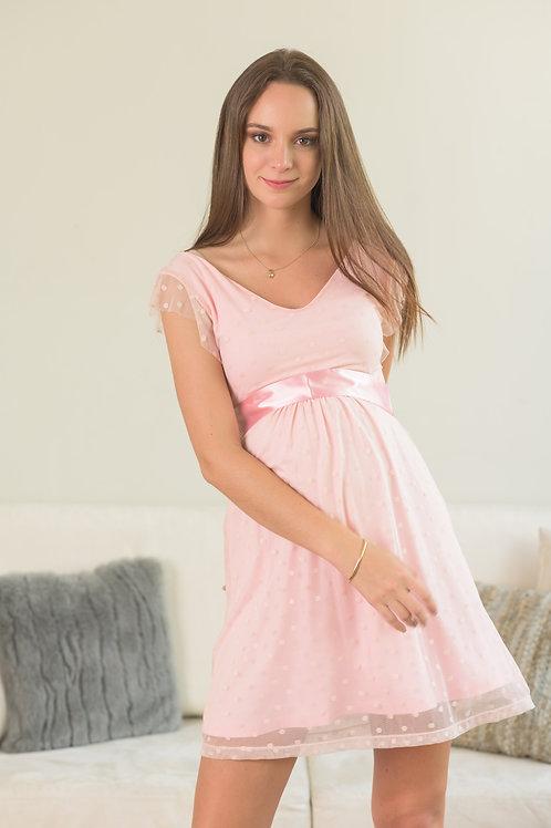Vestido Tul - Lunares Rosa.