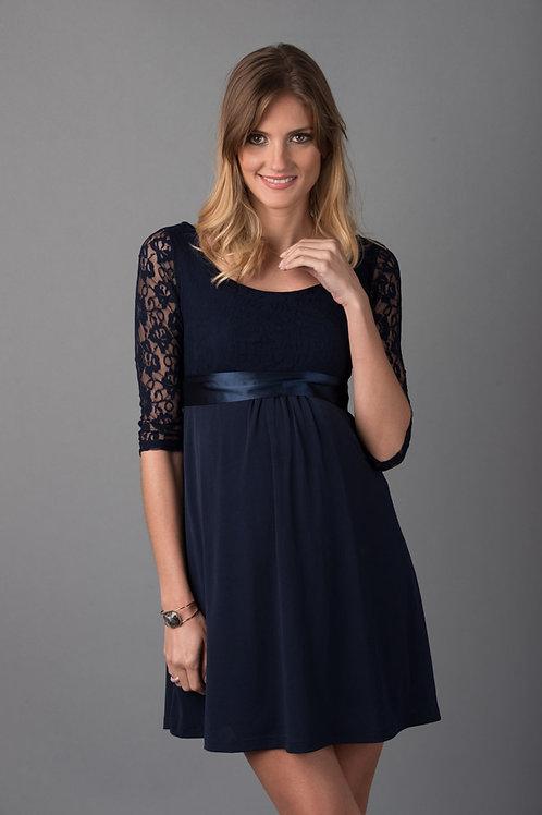 Vestido Encaje Venecia Azul Encaje