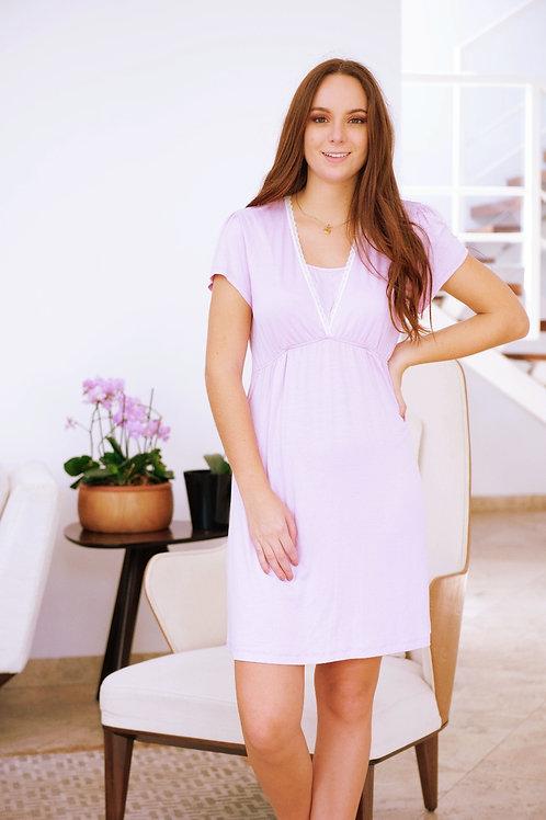 Pijama Camisón Lactancia- Lila