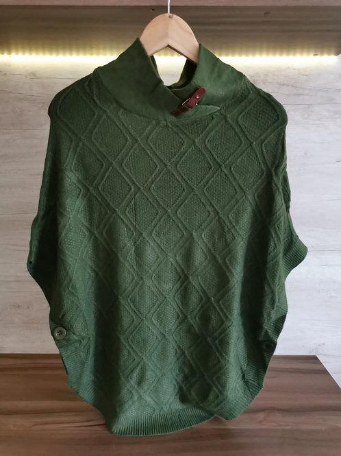 Poncho Diseño Verde Militar