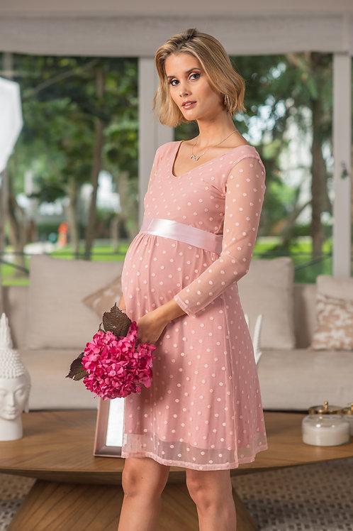 Vestido Tul Carmen palo rosa
