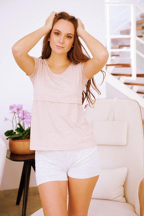 Pijama Camison 2 Piezas- Polo Short