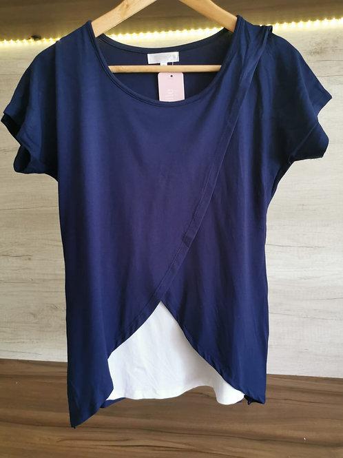 Polo Capas Cruzado - Azul