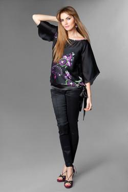 Blusa Kimono Satin y Pantalon Pitillo Negro Tafeta Alta.jpg
