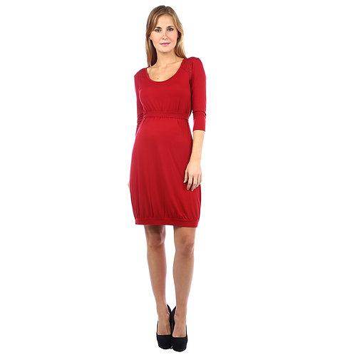 Vestido Tachas Manga 3/4 Rojo
