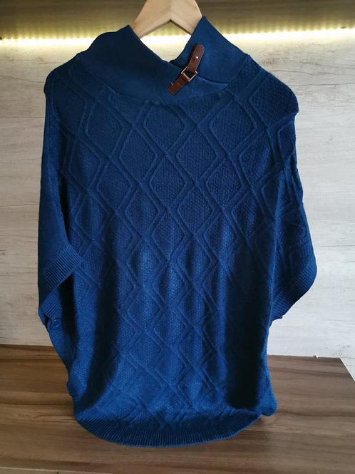Poncho Diseño Azul