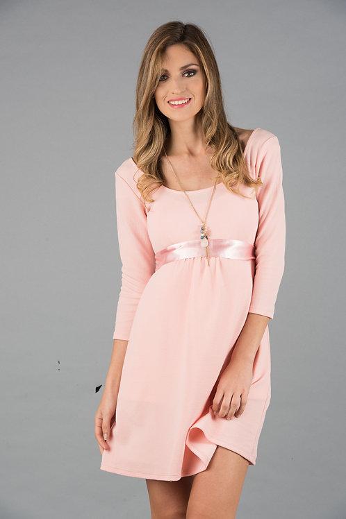 Vestido Encaje Venecia Jackard Rosa