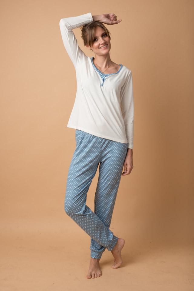 PJ2P-M-C Pijama 2 Piezas Michelle Celeste 159 (2)