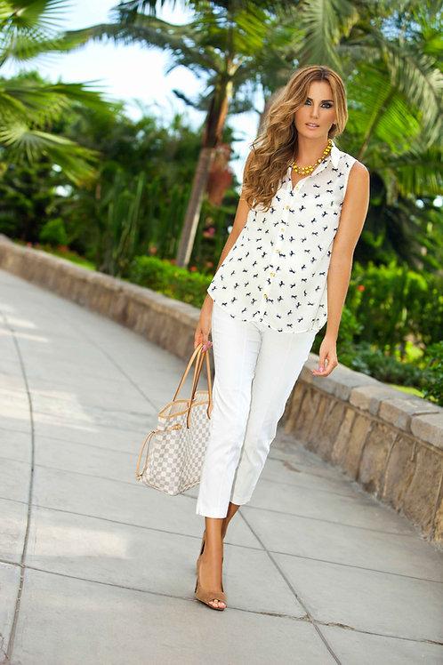 Pantalon 7/8 Vena Blanco