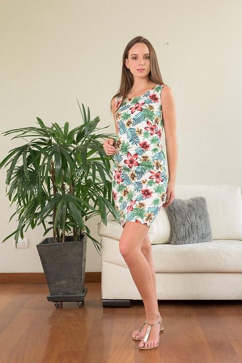 Vestido Tubo - Flores