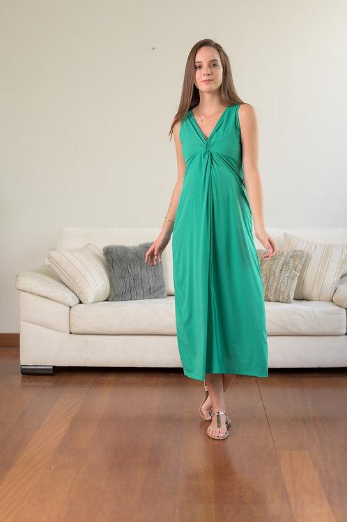Vestido Nudo Largo - Verde.