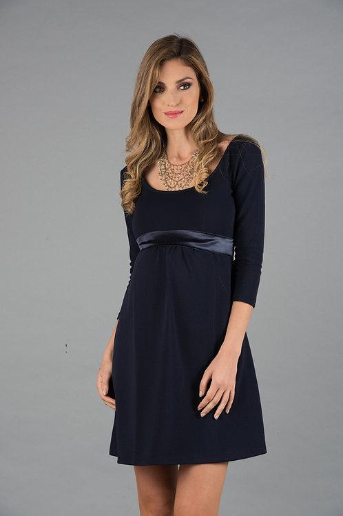 Vestido Encaje Venecia Jackard Azul
