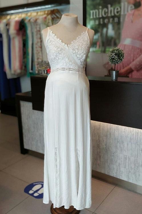 Vestido Nanzu Blanco Bordado