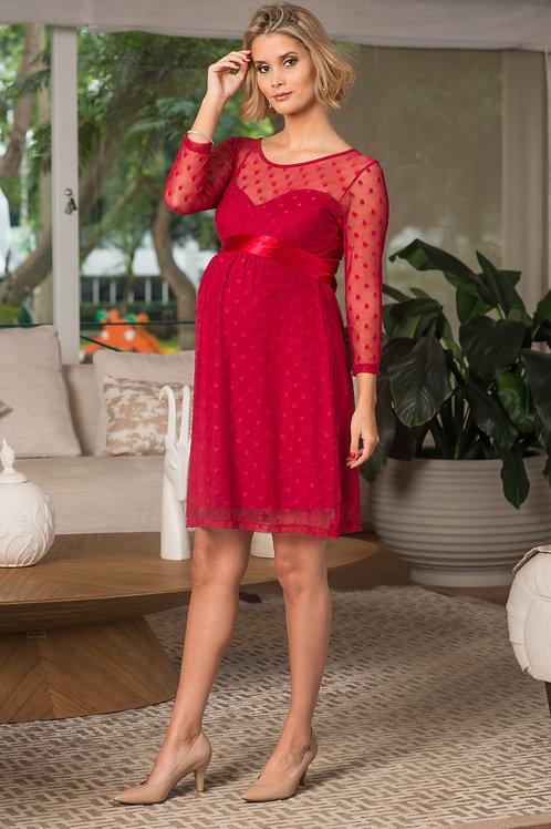 Vestido Tul Corazon Rojo vino