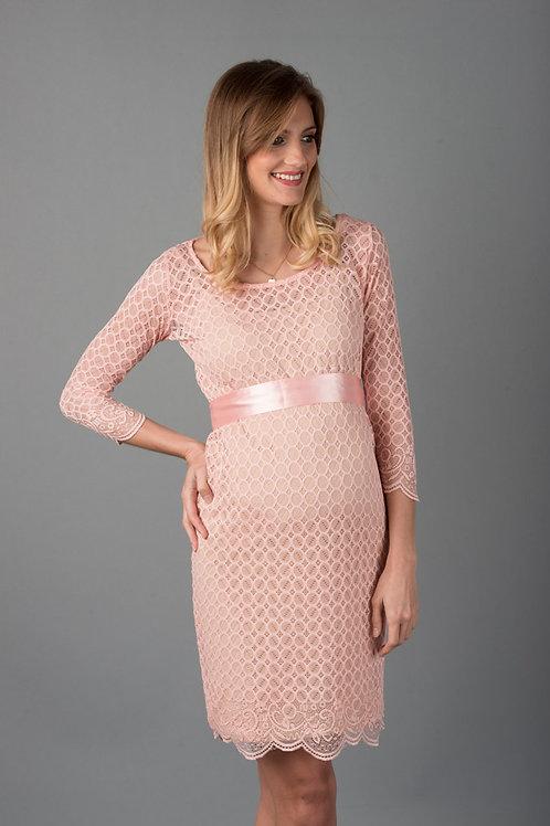 Vestido Encaje Tubo Marcy Rosa