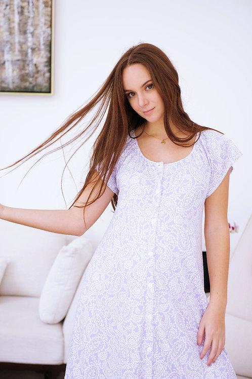 Pijama Camison Bata Lila