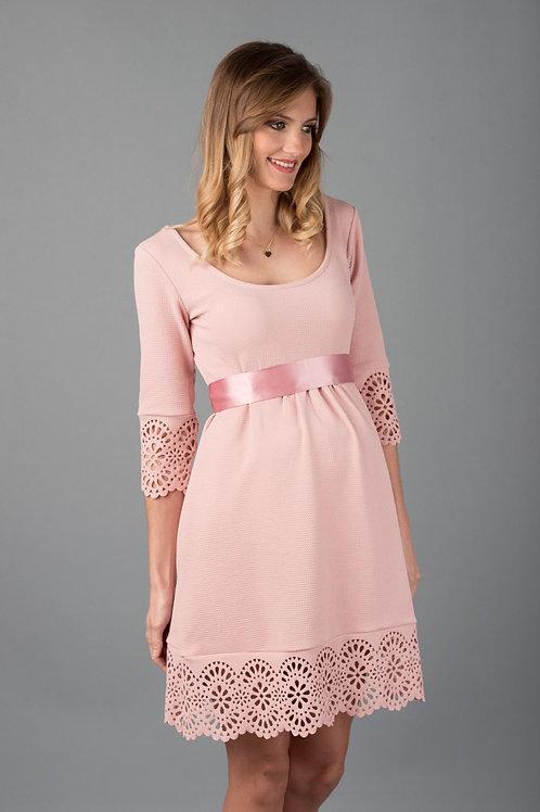 Vestido Encaje Venecia Rosa