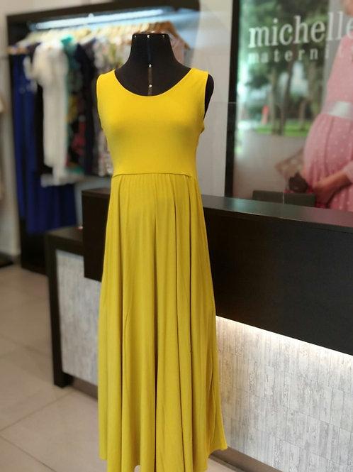Vestido Algodón casual Amarillo