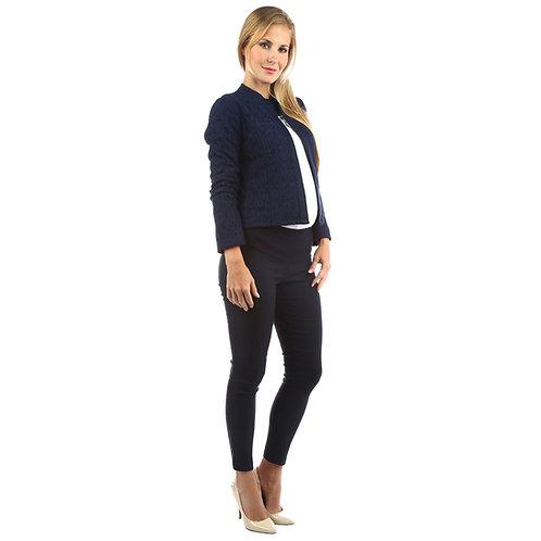Pantalon Pitillo Cierre Azul