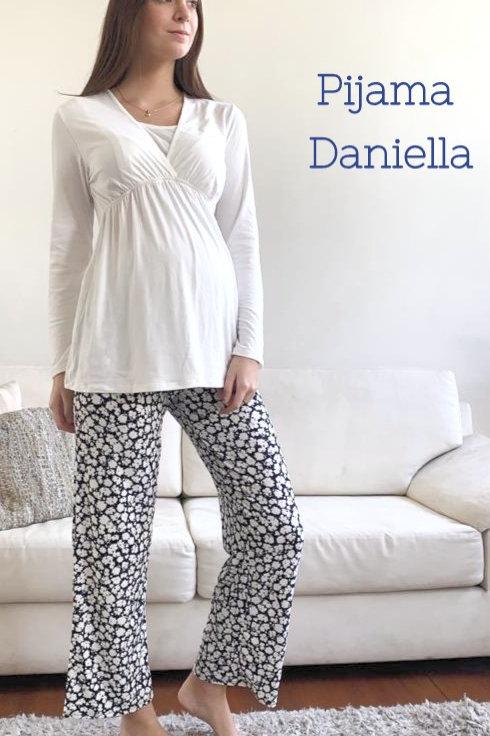 Pijama Isabella - Hueso-Azul
