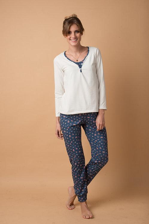 Pijama 2 Piezas Michelle Azul