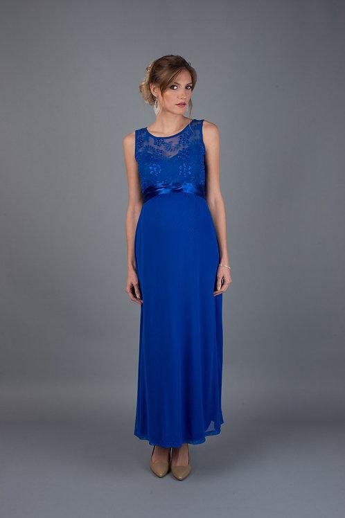 Vestido Encaje Corazón Largo Azulino