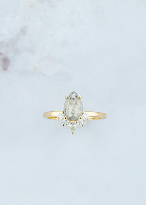 The Celeste Ring | 1.20ct | Salt & Pepper Diamond | Yellow Gold