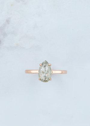 The Vega Ring | 1.31ct Pear Salt & Pepper Diamond | Rose Gold