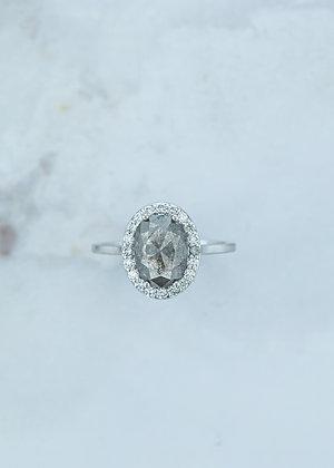 The Ophelia Ring | 1.74ct | Grey Diamond | Yellow Gold