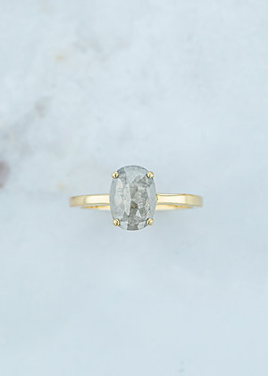 The Vega Ring | 1.60ct Cushion Diamond | Yellow Gold