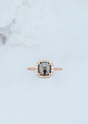 The Ophelia Ring | 1.41ct | Black/Brown Diamond | Rose Gold