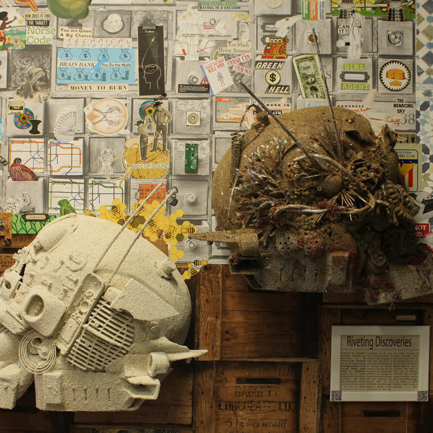 2018 Gobekli Tepe & Dwarka Cyborg Masks. The Dept. of Robot Ethnology's ROOM OF CONNECTION