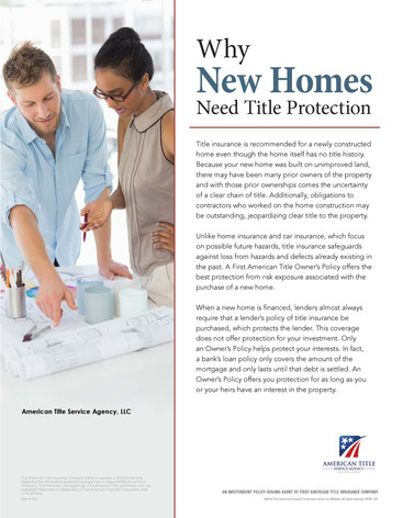 Why New Homes Need Title Protection - PT