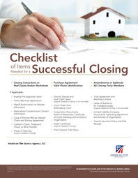 Checklist of Items Needed for a Successf