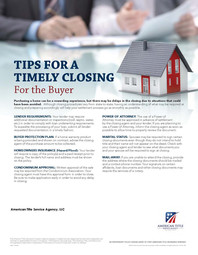 Tips for a Timely Closing - Buyer - PT -