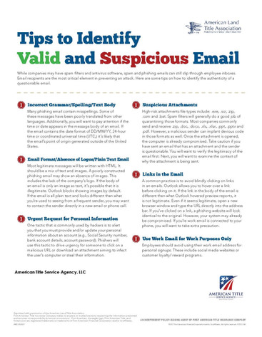 Tips to Identify Valid and Suspicious Em