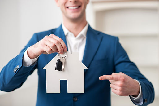 Close up of professional realtor holding