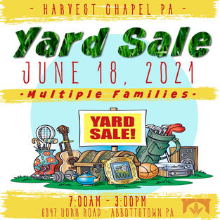 Yard Sale June 18th