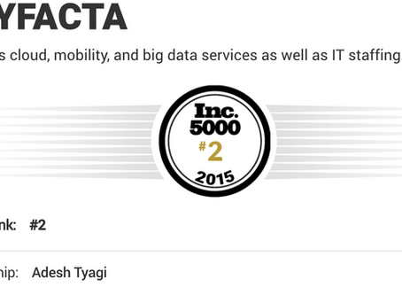 Tryfacta ranked at Top spot among Companies on Inc. 5000